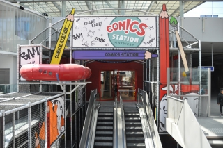 Aankleding Comics Station door ShowTex is schot in de roos