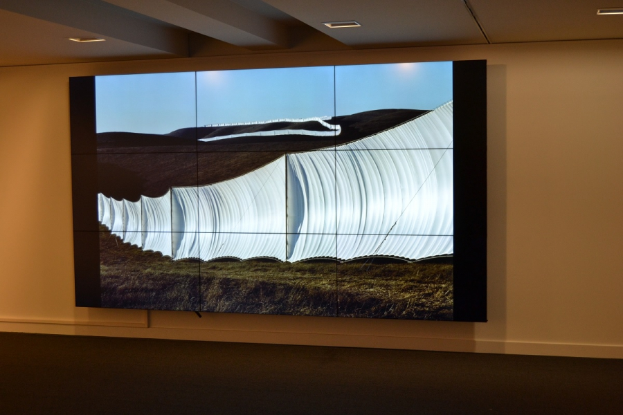 "Drie 4K videowalls op expositie van ""Christo and Jeanne-Claude. Urban Projects"""